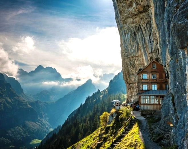 Ascher Cliff, Switzerland