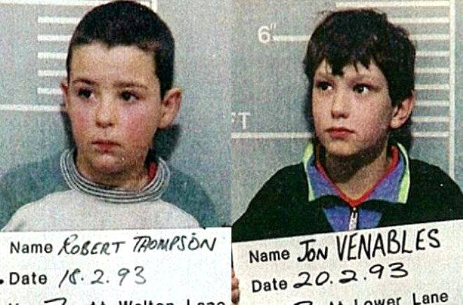 Jon Venables ve Robert Thompson, 10 yaşında