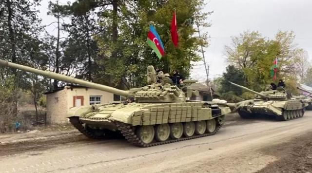 The Azerbaijani army is part of Kalbajar, which has been under occupation for 27 years
