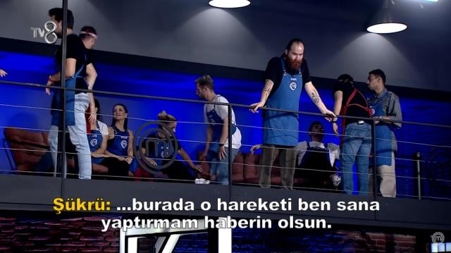 It's a mess in MasterChef Turkey!  Sergen and Şükrü are getting into each other